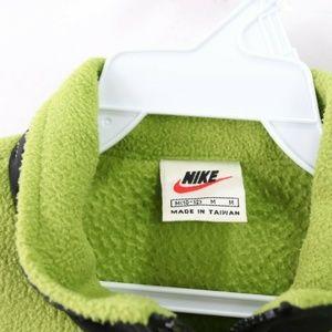 Nike Jackets & Coats - Vintage Nike Full Zip Fleece Vest Jacket Green M